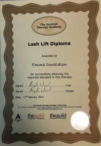 lash lift diploma